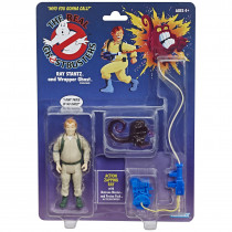 Action Figure Ghost Retro Ghostbusters Kenner Classics Ray Stantz and Wrapper Ghosr - Hasbro