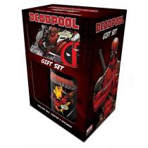 Set Deadpool tazza, sottobicchiere e portachiavi