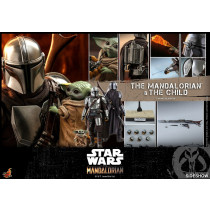 HOT TOYS TMS 14  Star Wars The Mandalorian Action Figure 2-Pack 1/6 The Mandalorian & The Child 30 cm