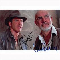 Autografo Harrison Ford & Sean Connery - Indiana Jones Foto 20x25
