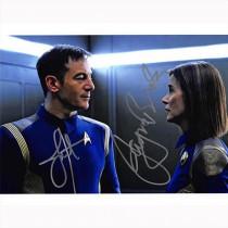 Autografo Jason Isaacs & Jayne Brook - Star Trek Discovery Foto 20x25