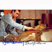 Autografo Sean Connery & Shirley Eaton - James Bond Foto 20x25