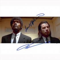 Autografo John Travolta & Samuel L. Jackson 2- Pulp Fiction Foto 20x25