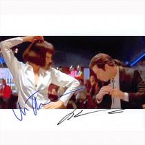 Autografo John Travolta e Uma Thurman  - Pulp Fiction 2 Foto 20x25