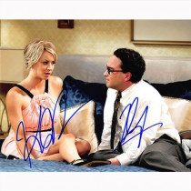 Autografo Johnny Galecki e Kaley Cuoco 2- The Big Bang Theory Foto 20x25