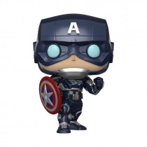 MARVEL: AVENGERS GAME - CAPTAIN AMERICA (STARK TECH SUIT) FIGURA FUNKO POP! VINYL