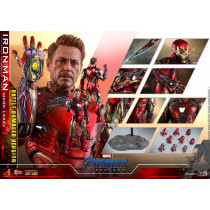 HOT TOYS 1/6 Avengers: Endgame Diecast Action Figure Iron Man Mark LXXXV Battle Damaged Ver.