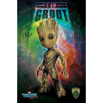 Poster Guardiani della Galassia Vol. 2 (I Am Groot - Space)