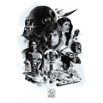 Poster Star Wars 40th Anniversary (Montage)