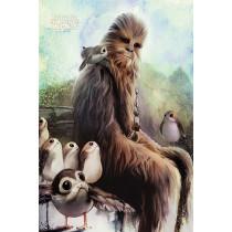 Poster Star Wars: The Last Jedi (Chewbacca & Porgs)