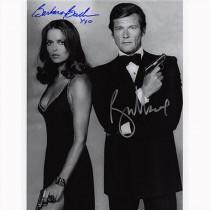 Autografo Roger Moore & Barbara Bach 3- James Bond Foto 20x25: