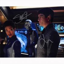 Autografo Sonequa Martin-Green & James Frain - Star Trek Foto 20x25