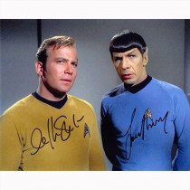 Autografo William Shatner & Leonard Nimoy - Star Trek 4- Foto 20x25