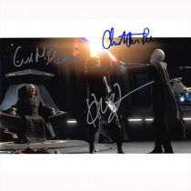Autografo Star Wars Revenge of The Sith Cast di 3 Foto 20x25