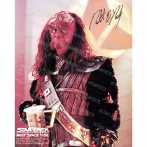 Autografo Robert O'Reilly Star Trek TNG Foto 20x25