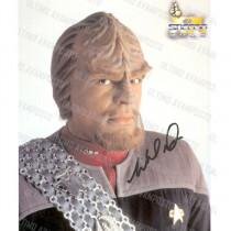 Autografo Michael Dorn Star Trek  2 Foto 20x25
