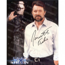 Autografo Jonathan Frakes Star Trek 2 Foto 20x25