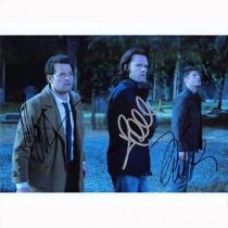 Autografo Cast di Supernatural Foto 20x25