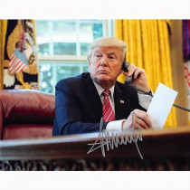 Autografo U.S. President Donald Trump  Foto 20x25