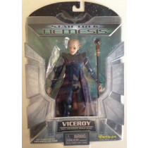 Star Trek Nemesis Viceroy Action Figure TNG - Diamond Select Art Asylum 2002 MOC