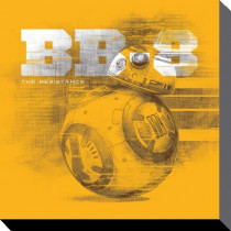 Stampa su tela Star Wars (BB-8)