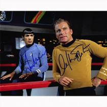 Autografo William Shatner & Leonard Nimoy - Star Trek 5- Foto 20x25