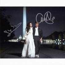 Autografo Gal Gadot & Chris Pine - Wonder Woman foto 20x25