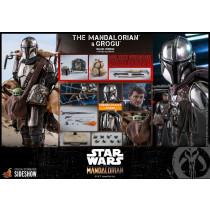 PREORDINE HOT TOYS STAR WARS  The Mandalorian & Grogu Deluxe Version 30 cm  2-Pack 1/6