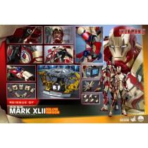 PREORDINE hot toys Iron Man 3 Action Figure 1/4 Iron Man Mark XLII Deluxe Ver. 49 cm