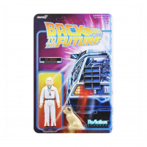 PREORDINE Back To The Future ReAction Action Figure Doc Brown 10 cm