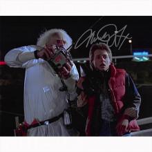 Autografo Michael J. Fox Ritorno al Futuro Foto 20x25