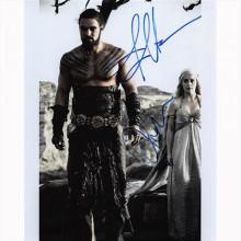 Autografo Emilia Clarke - Jason Momoa - Game of Thrones - Il Trono di Spade 2 Foto 20x25