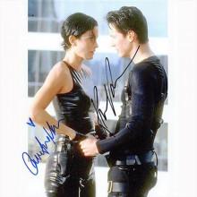 Autografo Keanu Reeves & Carrie-Anne Moss 2- The Matrix Foto 20x25