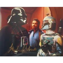 Autografo STEPHEN CALCUTT Star Wars Dath Vader 4 Foto 20x25