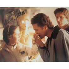 Autografo Star Wars Carrie Fisher 4 Foto 20x25