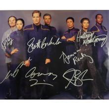 Autografo Cast Completo  Star Trek Enterprise 2 Foto 20x25