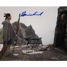 Autografo Star Wars Mark Hamill & Daisy Ridley 2 - Foto 20x25
