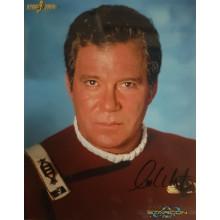 Autografo William Shatner Star Trek 4 Foto 20x25