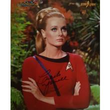 Autografo Celeste Yarnall Star Trek Foto 20x25