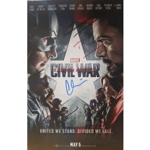 Autografo Cast 6 Civil War Marvel Foto 20x30