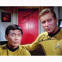 Autografo William Shatner e George Takei - Star Trek Foto 20x25