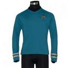 STAR TREK™: THE ORIGINAL SERIES Season 3 Premier Line Sciences Spock Uniform Tunic Small -ultimo pezzo