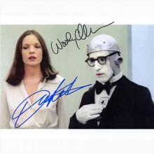 Autografo Woody Allen & Diane Keaton - Sleeper Foto 20x25