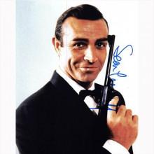 Autografo Sean Connery -2- 007 James Bond 20x25: CON PICCOLO DIFETTO