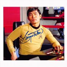 Autografo George Takei - Star Trek Foto 20x25