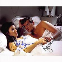 Autografo Roger Moore & Jane Seymour - 007 James Bond Foto 20x25