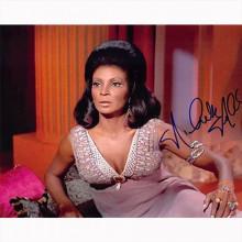 Autografo Nichelle Nichols Star Trek Classica 2 Foto 20x25