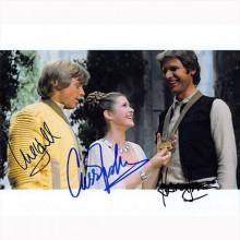 Autografo Star Wars Cast 3 Foto  20x25