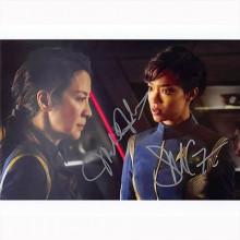 Autografo Sonequa Martin-Green & Michelle Yeoh -2- Star Trek Foto 20x25