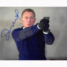 Autografo Daniel Craig - 007 James Bond  No Time to Die Foto 20x25